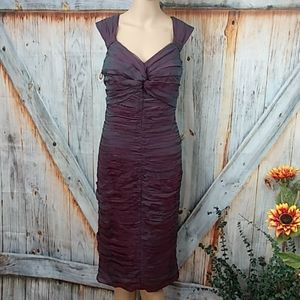 NWOT TADASHI COLLECTION Silk Pleated Dress